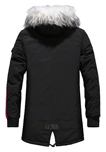 Homme Hiver Parka épais et Chaud Manteaux Thermiques de Longueur Fourrure à Capuchon Parkas Veste à Capuche Mens Hiver…