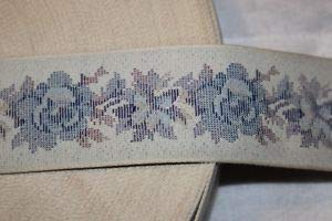 1 Yard Gray White Baby Blue Lavender Woven Tapestry Sewing Trim 2