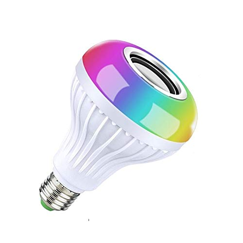 Sprinto YZ01 Led Bluetooth Speaker + RGB Light Colourfull Music Bulb with Remote Control for Home, Bedroom, Living Room…