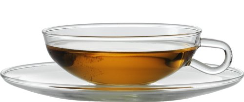 Jenaer Glas Wagenfeld Collection Tea Cup with Matching Saucer, Set of (Sterling Tea Saucer)