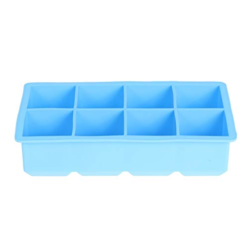 (Vistaric Large Square Silicone Ice Tray Mold 8 Grids DIY Popsicle Ice Cream Maker Ice Mold for Whiskey Cocktail Frozen Ice Maker:)