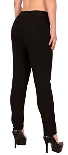 Femme Taille Femmes Skinny Haute Femmes Treggings Taille H275 surdimensionne la ESRA H275 de noir Pantalons 8wEgqUE4