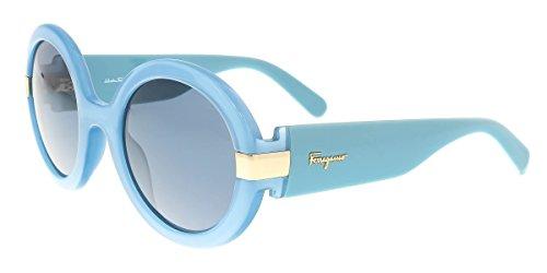 Salvatore Ferragamo SF778/S 402 Azure Round - Men's Ferragamo Sunglasses