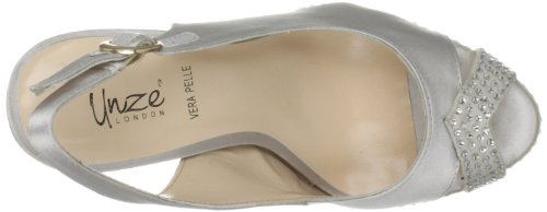 Evening Chaussures Unze basses femme Slippers L17819w Evening Unze Slippers Argent w6xCtqAAH