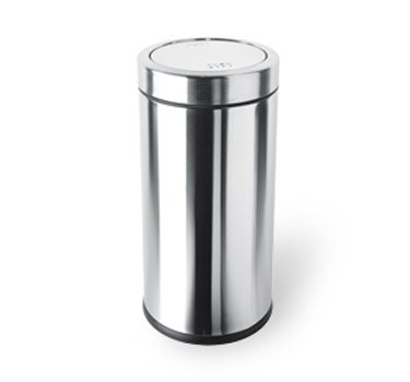 simplehuman 55 Liter / 14.5 Gallon Swing Top Trash Can, Commercial Grade, Stainless Steel by simplehuman