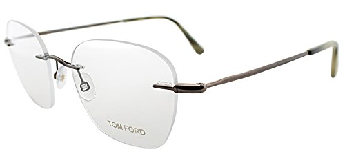 Tom Ford FT 5341 036 Silver Metal Rimless Eyeglasses - Glasses Tom Ford Rimless