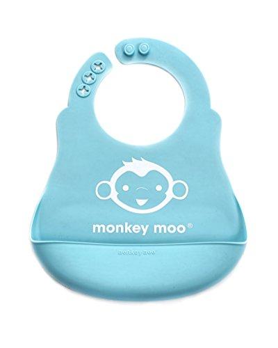 Soft Silicone Wipe Clean Waterproof Baby Bibs 2 Pack - BPA Free