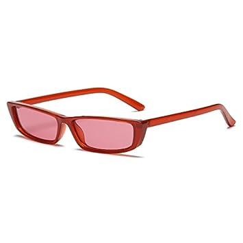 5d07c7d103 Burenqi@@ Gafas de Sol cuadradas Pequeñas Mujeres Hombres Marca Gafas de  diseñador de Moda Masculino Femenino Sombras Negras Gafas Unisex UV400,E:  ...