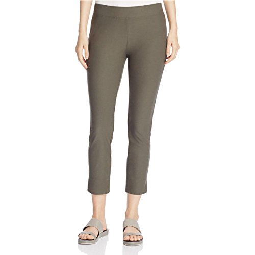 Eileen Fisher Womens Petites Cropped Slim Fitting Cropped Pants Green PP (Eileen Fisher Slim Pants)