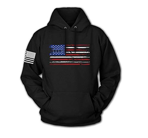 Tactical Pro Supply USA Sweatshirt Hoodie for Men or Women, American Flag Patriotic Jacket Sweater (U.S Flag, X-Large)