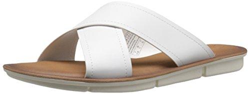 Skechers Cali Disfrute 2 Criss cruce de diapositivas de la sandalia White