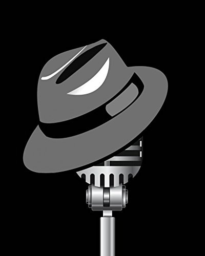 1art1 Posters: Music Poster Art Print - Fedora Hat and Microphone (20 x 16 inches)