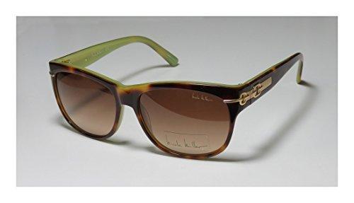 Nicole Miller Hudson Sunglasses - Frame Blonde Tortoise, Lens Color Dark Brown Gradient NMHUDSON03