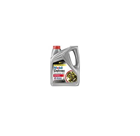 Mobil 112810 Delvac Synthetic Automatic Transmission Fluid - 1 Gallon (Pack  of 4)