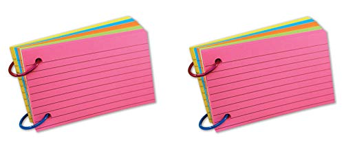 Top Notch Teacher Products TOP3674 Ring Notes, Lined, Assorted Bright Colors, 3'' x 5'', Pack of 75 (Тwo Рack) by Top Notch Teacher Products (Image #1)