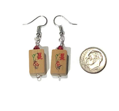 (Mahjong Tile Earrings)