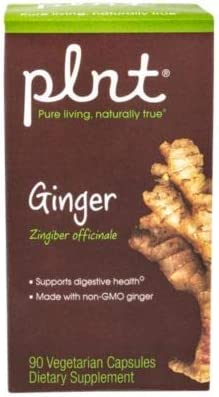 plnt Ginger Contains FullSpectrum, Organic NonGMO Ginger Root to Support Digestive Health 90 Vegetarian Capsules