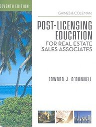 Download Post-Licensing Education for RE Sales Associates, 7th Edition PDF