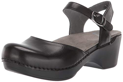 - Dansko Women's Sam Ankle-Strap Clog,Black,38 EU/7.5-8 M US