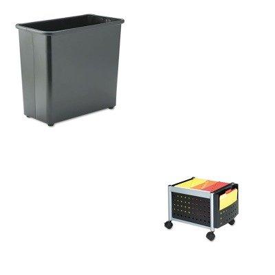KITSAF5371BLSAF9616BL - Value Kit - Safco Mini-Scoot Mobile File (SAF5371BL) and Safco Fire-Safe Wastebasket (SAF9616BL) by Safco