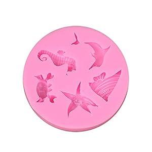 Hosaire - Stampo da pasticceria, pratico, in silicone, per gelato fondente 3D, serie oceano, a forma di pesce, per… 7 spesavip