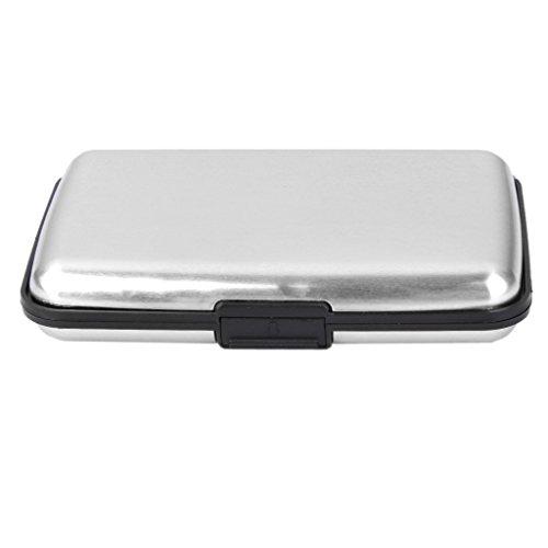 Mini Wasserdichte Aluminium Etui Geschäft Identifikation Kreditkarte Halter (Schwarz) Silber bZoOZfY