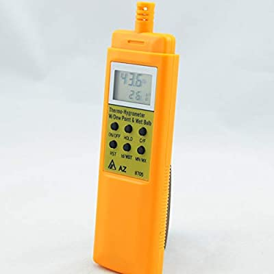 Temperature and Humidity Meter Handheld Portable Dew Point Tester Wet Bulb Hygrometer Thermal Imager