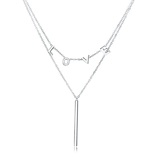 OSIANA Y necklace-WomensTitaniumStainlessSteel pendantnecklaceinGiftBox Double (Costumes For 2 Friends)
