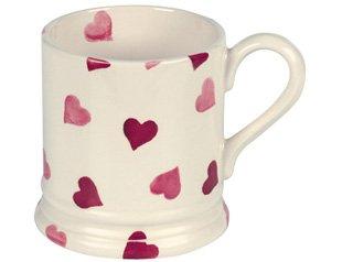 Emma Bridgewater Pink Hearts 1/2 Pint Mug by Emma - In Shopping Bridgewater