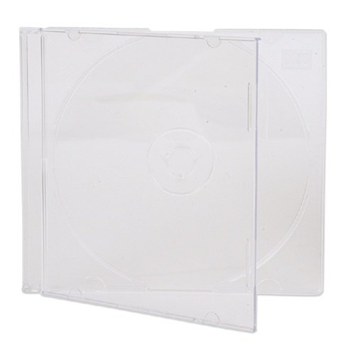 Mediaxpo Brand 100 SLIM SUPER Clear CD Jewel Cases (Slim Case Jewel Super)
