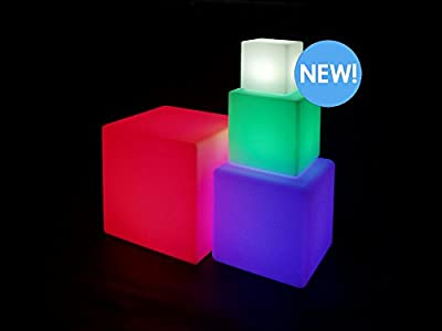 blinkee 20 Inch Huge LED Color Changing Cube Light Chair Stool Table Furniture by