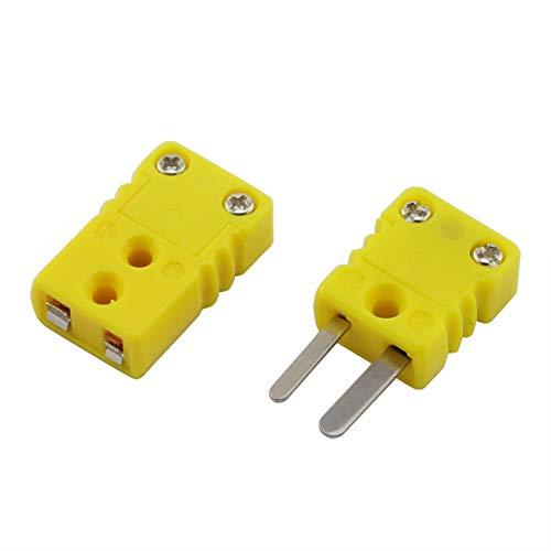 PZRT 1 Set K Type Thermocouple Plug Adapter RTD Circuits Mini Male/Female Wire Connector