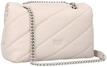 Pinko Mode De Luxe Femme 1P21VPY6JKI21 Blanc Cuir Sac Porté Épaule | Automne-hiver 20