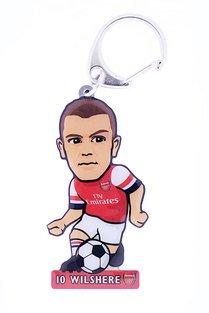 Jack Wilshire Metal Key Ring Arsenal Fc Football Souvenir Gift Soccerbuddies