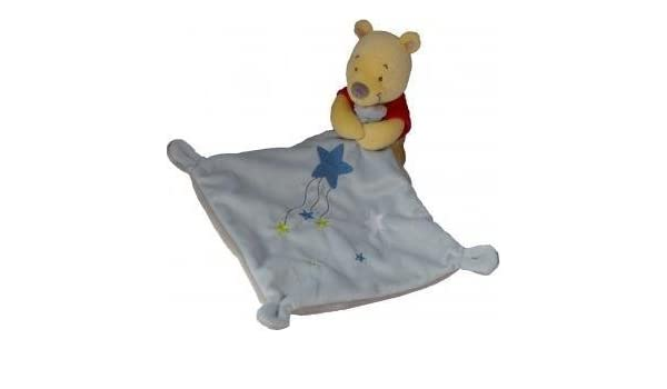 Doudou Disney Kiabi Winnie amarillo pañuelo azul estrella: Amazon.es: Bebé