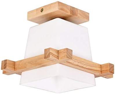 WDSL La luz de la lámpara de Techo de Madera de Roble Luces Pendientes Estudio de Cristal lámpara de Pared Simple Balcón Entrada del Pasillo del Pasillo de la lámpara de Techo:
