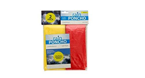 72 Packs of 2 Pack emergency rain ponchos