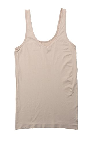 ELLEN TRACY Womens Small/5 Reversible Seamless Camisole, Ivory Tan from ELLEN TRACY