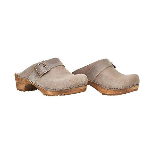 Sanita Women's Wood-Urban Clogs Leather 20 Grey Size 39 EU