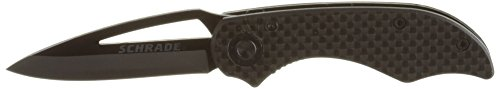 Schrade-SCH405-Liner-Lock-Folding-Knife-Drop-Point-Ceramic-Blade-Carbon-Fiber-Handle