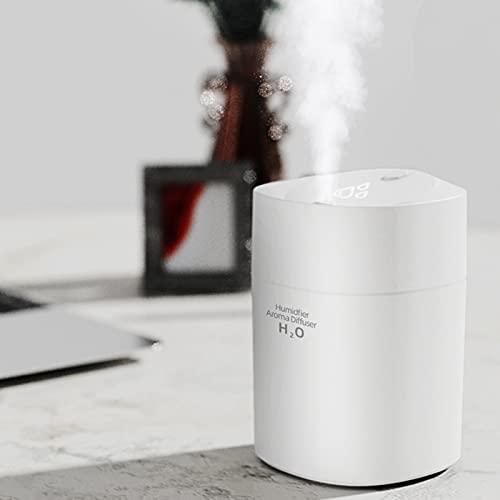 Justwide Mini Humidificador para Coche, Humidificador Casero De Escritorio USB, Humidificador De Aire Silencioso (White)