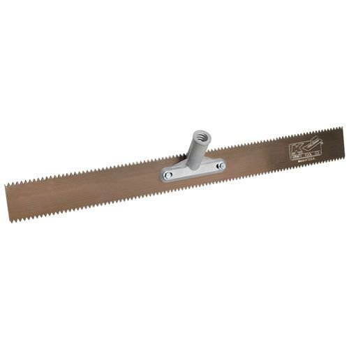 Kraft Tool Double Notch Floor Coating Rake 24'' x 3/8'' V-Notch by Kraft Tool