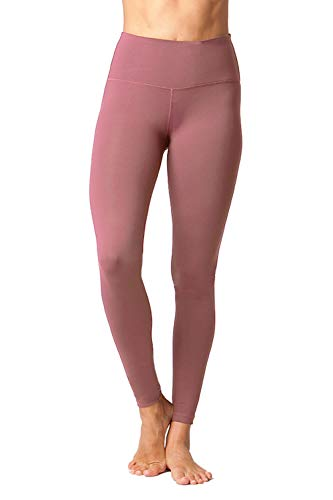 - 90 Degree By Reflex - High Waist Power Flex Legging - Tummy Control - Tainted Rose - XS