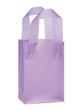50%OFF つや消しプラスチックショッピングギフトバッグwithハンドル( 5 x7