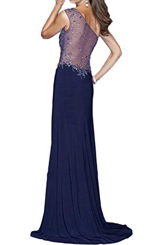 Prom abito abito perline pietre Donna da Violett Party una sera ivyd Modern ressing vestito Festa spalla spacco nO7qP8