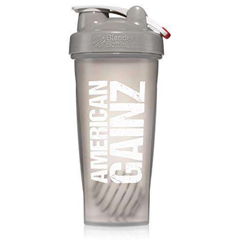 - American Gainz Grey Shaker Bottle