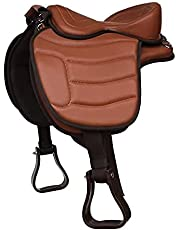 HORSE SADDLERY IMPEX' Soft Western Bareback Synthetic Treeless Horse Saddle Pleasure Trail, Size 14 to 18 inch Seat Available.
