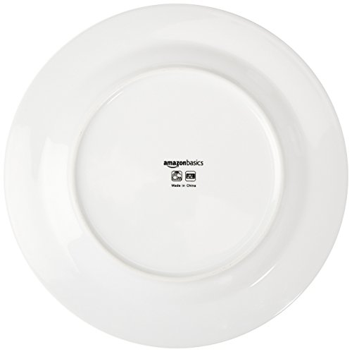 AmazonBasics 16-Piece Cafe Stripe Dinnerware Set, Service for 4 - Grey by AmazonBasics (Image #7)