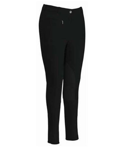 - TUFFRIDER Knee Patch Bamboo Lowrise Regular Ladies Breech - BLACK, 30
