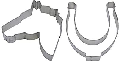2 Piece Horse Head & Horse Shoe Cookie Cutter Set NEW! Party